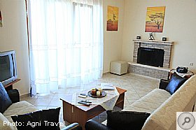Living Room, Villa Aetos, Kefalonia, Agni Travel