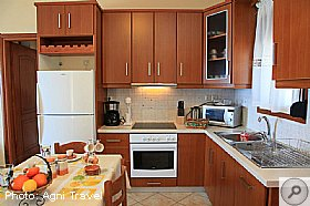 Kitchen And Dining Room, Villa Aetos, Kefalonia, Agni Travel