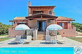 Layout, Villa Aetos, Kefalonia, Agni Travel