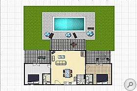 Floor Plan, Villa Aetos, Kefalonia, Agni Travel