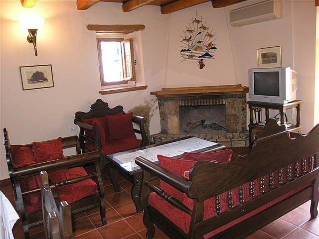 Living Room And Kitchen Artemis Stone Mansion Pool In Evreti Kefalonia Agni