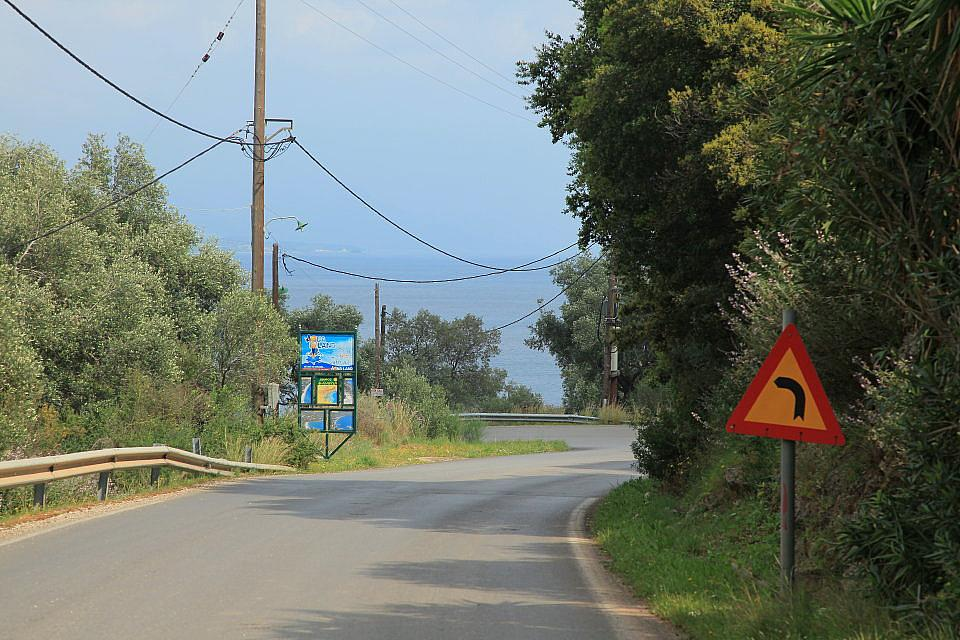 Tzavros to Nissaki, Corfu, Agni Travel Driving Instructions