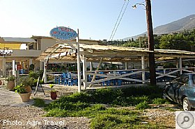 Tavernas on the beach at Lourdas, LOURDAS, Kefalonia Resort Guide, Kefalonia Travel Guide