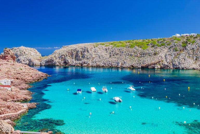 Menorca, Cala en Blanes