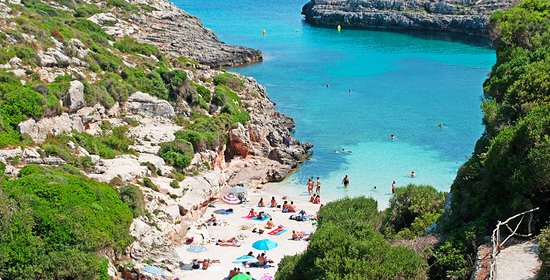 Cap d'en Font is a cove and a hidden beach in the southeast of the island