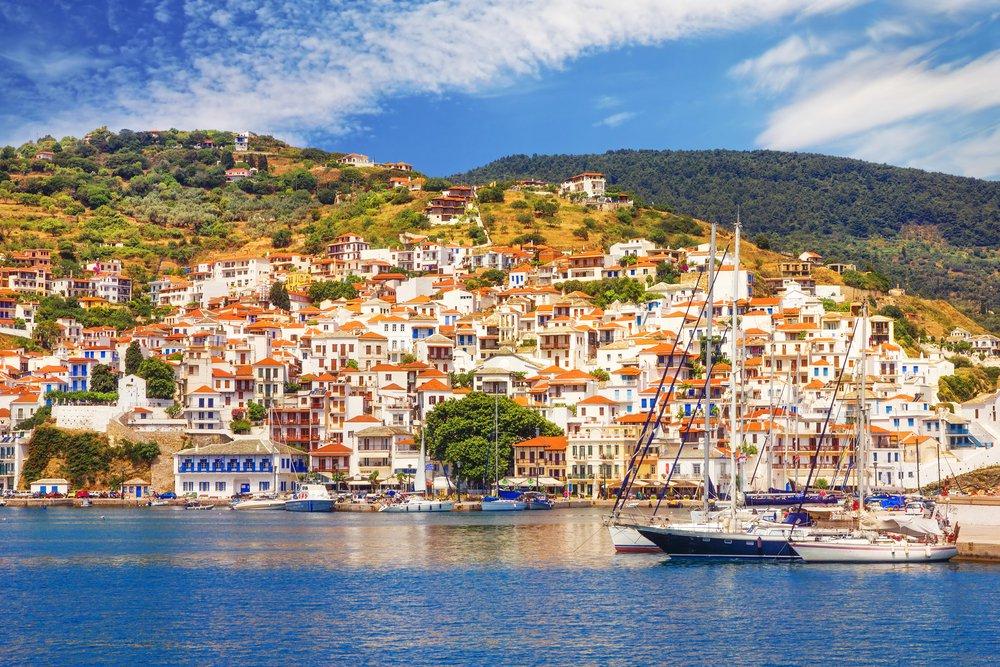 Skopelos, Skopelos Town